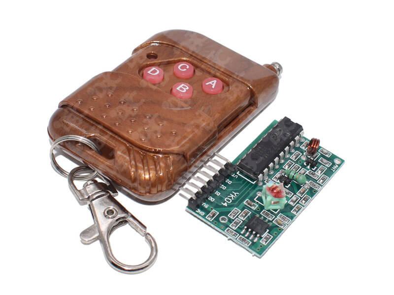 Kit Control Remoto Y Módulo Receptor Rf Ic2262 2272 315mhz